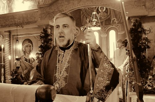 Беседа Еп. Григорија у Петропавловом манастиру