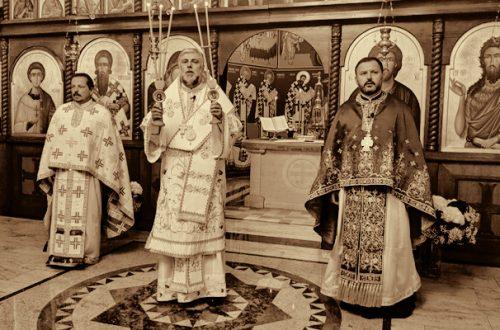 Sveta liturgija u berlinskom hramu Svetog Save