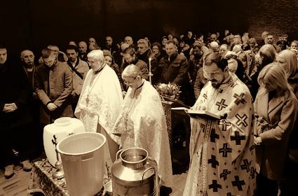 Богојављење у параклису Пресвете Богородице у Минхену  и вечерња служба у Розенхајму
