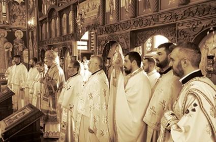"""Света архијерејска Литургија и трибина """"Вера и изазови савременог доба"""" – Минхен"""