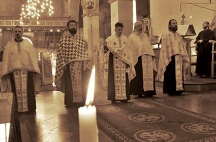 Večernje bogosluženje u grčkom hramu Uspenja Presvete Bogorodice – Keln