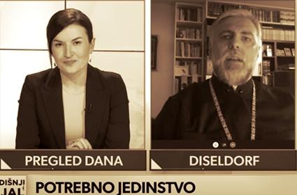 Božićni intervju Episkopa Diseldorfa i Nemačke G. Grigorija za emisiju Pregled dana