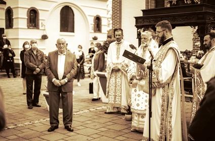Sveta arhijerejska Liturgija i dodela ordena gospodinu Ostoji Borkoviću – Nedelja Tomina – Diseldorf