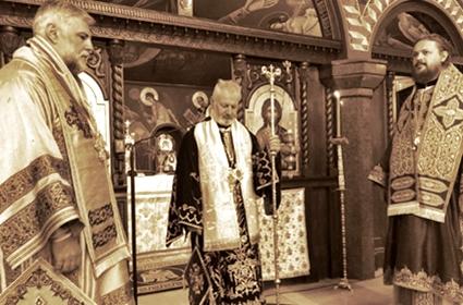 Sveta arhijerejska Liturgija na praznik Male Gospojine – Diseldorf